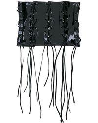 Manokhi Lace-up Corset Belt - Black