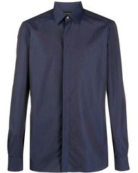 Ermenegildo Zegna Overhemd Met Puntkraag - Blauw