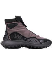 Camper Ботинки На Молнии Со Вставками - Черный
