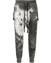 Thom Krom Pantalon de jogging à effet marbré - Gris
