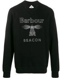 Barbour エンブロイダリー スウェットシャツ - ブラック