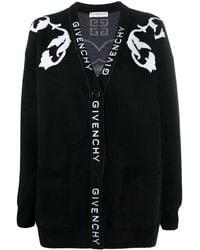 Givenchy Кардиган Вязки Интарсия - Черный