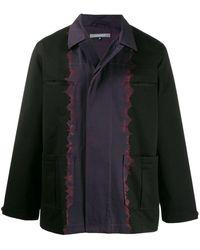 Suzusan Hemdjacke mit Batikmuster - Blau