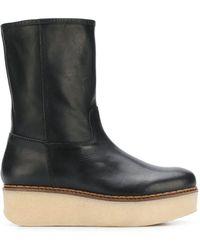 Flamingos Cheyenne Platform Boots - Black