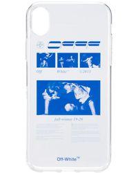 Off-White c/o Virgil Abloh IPhone XR-Hülle mit grafischem Print - Weiß