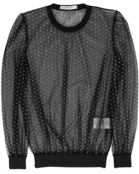 Givenchy - Dotted Sheer Blouse - Lyst