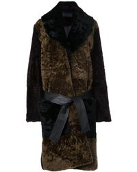 Proenza Schouler Double Breasted Shearling Coat - Brown