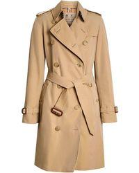 Burberry Trench-coat En Gabardine De Coton The Kensington - Neutre
