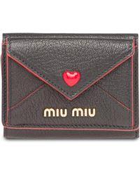Miu Miu Madras 財布 - ブラック