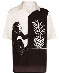 Bottega Veneta Рубашка С Принтом - Черный