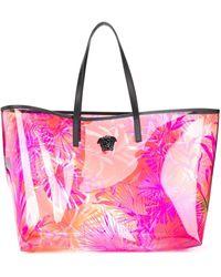 Versace Прозрачная Сумка-тоут С Принтом - Розовый
