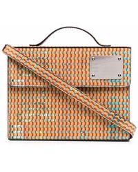 BETHANY WILLIAMS Gewebte Handtasche im Buchdesign - Mehrfarbig