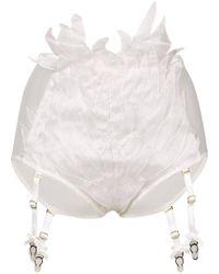Yes Master - Embroidered Suspender Briefs - Lyst