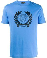 Versace メデューサ Tシャツ - ブルー