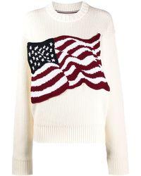 Tommy Hilfiger Maglione American flag - Bianco