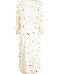 N°21 - フローラル シャーリング ドレス - Lyst