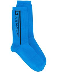 Givenchy Logo printed socks - Bleu