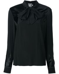 Fausto Puglisi - Bow Neck Blouse - Lyst