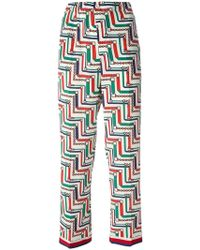 Gucci - Bridal Strap Printed Pajama Trousers - Lyst