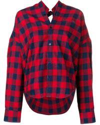 Balenciaga Exclusive To Farfetch - Check Swing Shirt - Red