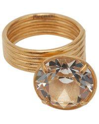 JW Anderson Crystal Loop Ring - Metallic