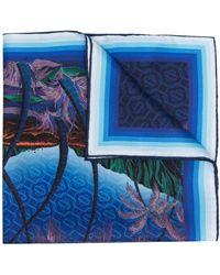 CASABLANCA Платок С Графичным Принтом - Синий