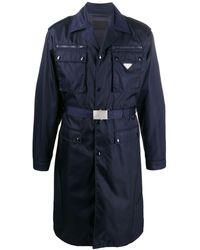Prada Gabardine Trenchcoat - Blauw