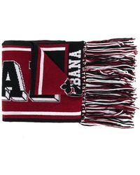 Dolce & Gabbana - Printed Knit Scarf - Lyst