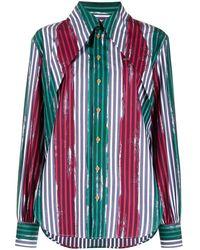 Vivienne Westwood ピンストライプ シャツ - グリーン