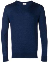 Ballantyne Jersey con cuello en V - Azul