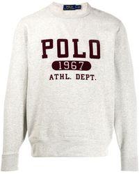 Polo Ralph Lauren Sweater Met Logoprint - Grijs
