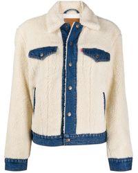Levi's Faux-shearling Denim Jacket - White