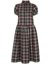 Shrimps - Effie Tartan Short Sleeve Dress - Lyst
