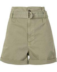 FRAME Belted Cargo Shorts - Green