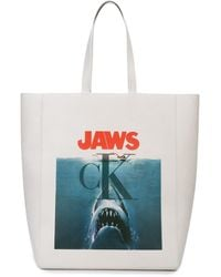 CALVIN KLEIN 205W39NYC Jaws プリント トートバッグ - マルチカラー