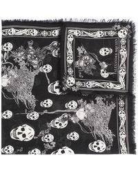 Alexander McQueen - Eve And Skull Scarf - Lyst