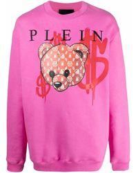 Philipp Plein Толстовка Teddy Bear С Логотипом - Розовый