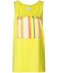 Gaëlle Bonheur - Striped Front Tank Top - Lyst