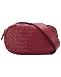 Bottega Veneta Intrecciato Belt Bag - Red