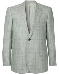 Gieves & Hawkes - Check Fitted Blazer - Lyst
