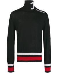 Just Cavalli タートルネックセーター - ブラック