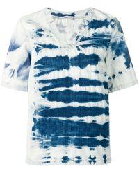 Stella McCartney T-Shirt in Batik-Optik - Blau