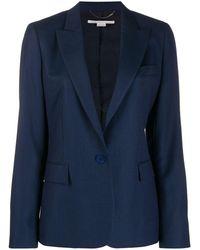 Stella McCartney Blazer Met Enkele Rij Knopen - Blauw