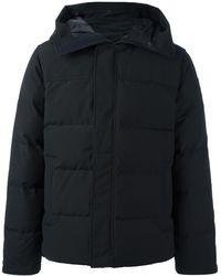Canada Goose Zipped Hooded Coat - Zwart