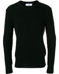 AMI - Fisherman Rib Crew Neck Sweater - Lyst