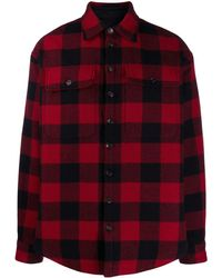 DSquared² Check Print Shirt - Red