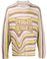 Palm Angels マルチカラー Melting Stripes クルーネック セーター