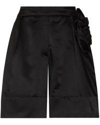 Simone Rocha Rose Detail Sculpted Shorts - Black