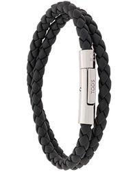 Tod's Bracelet à design tressé - Noir