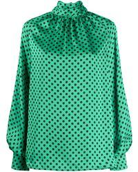 MSGM Блузка В Горох - Зеленый